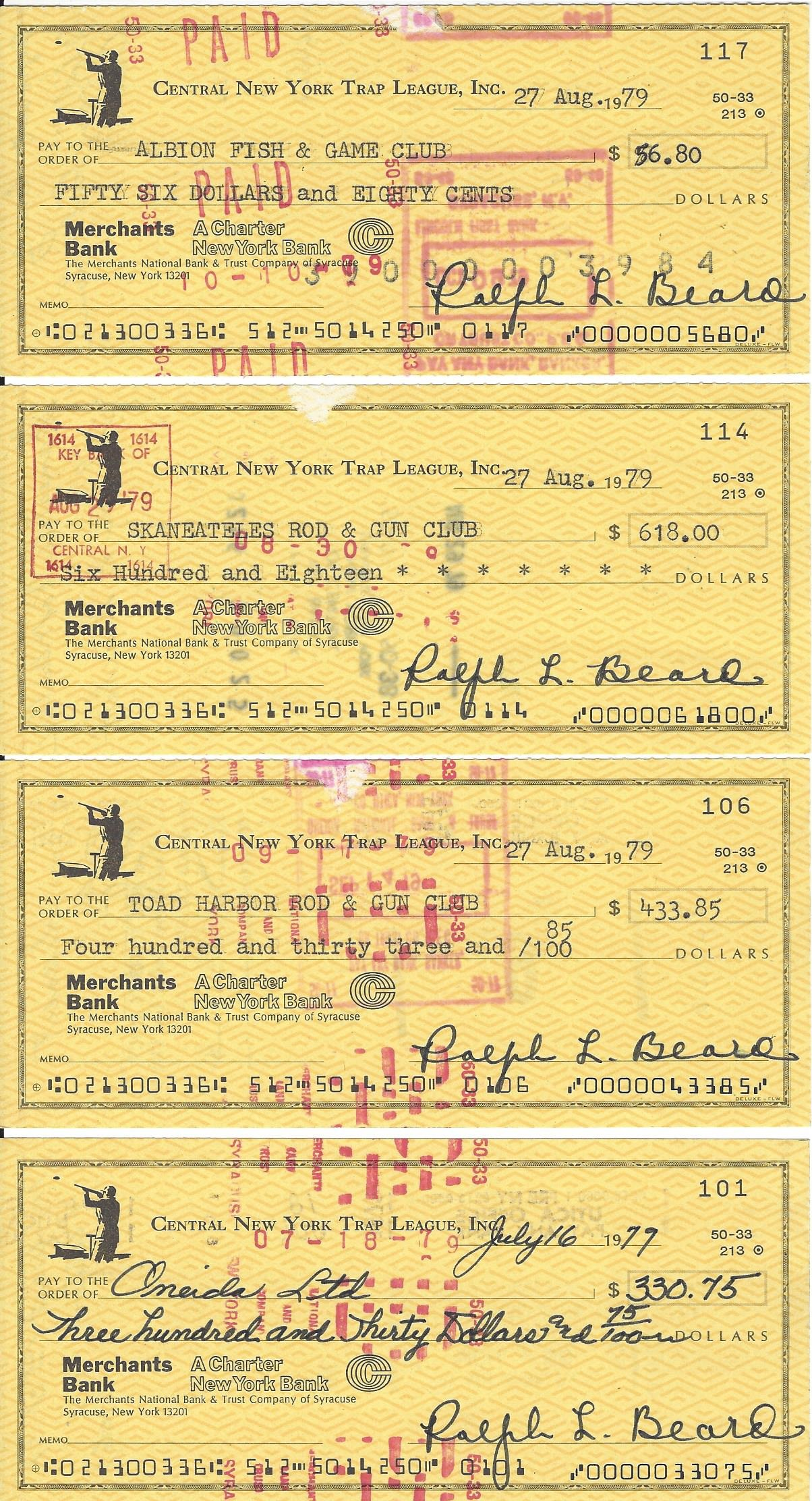 CNYTL 1979 CHECKS