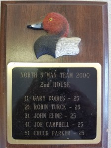 2000 5 man team north plaque